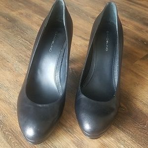 Bandolino genuine leather black heels